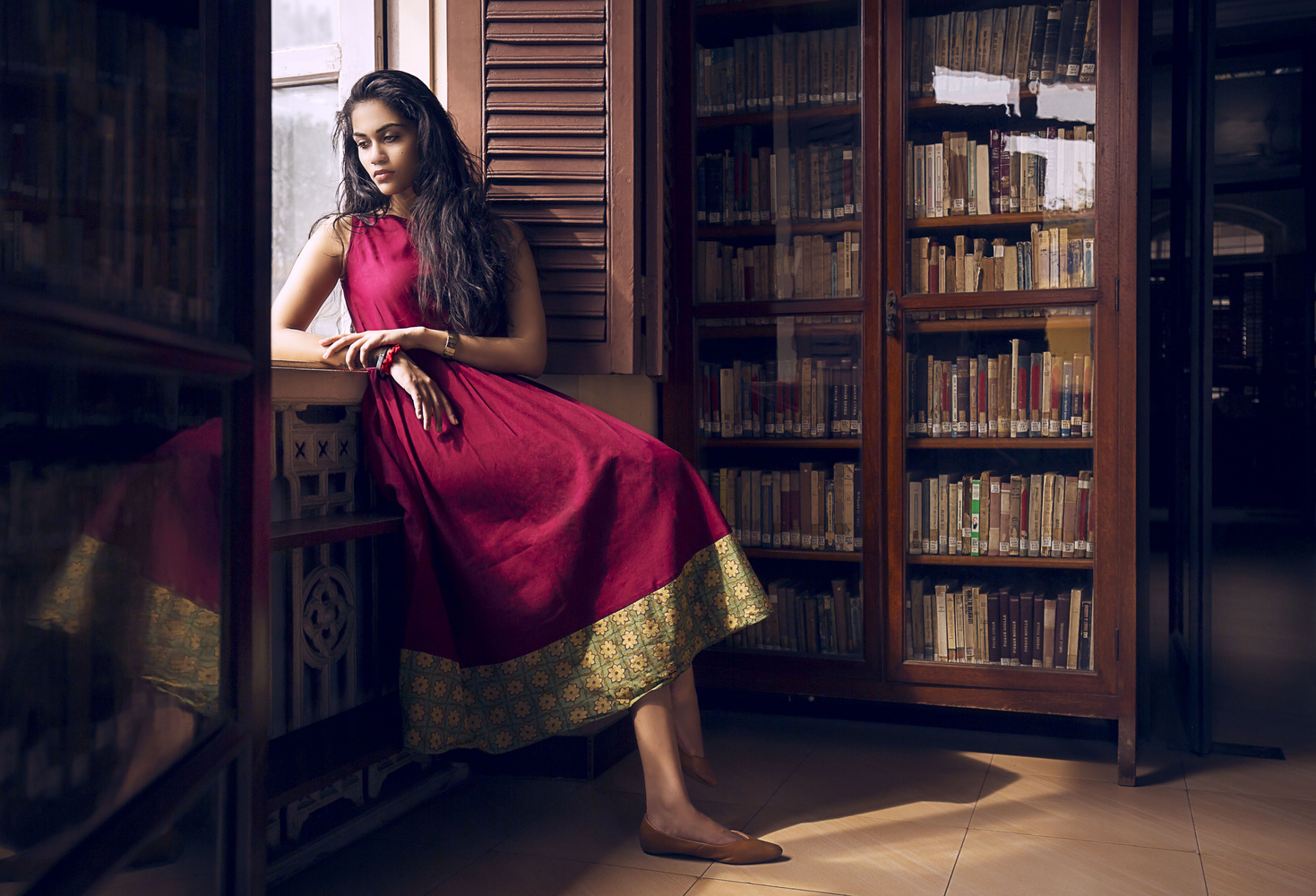 At the Library by Rani George