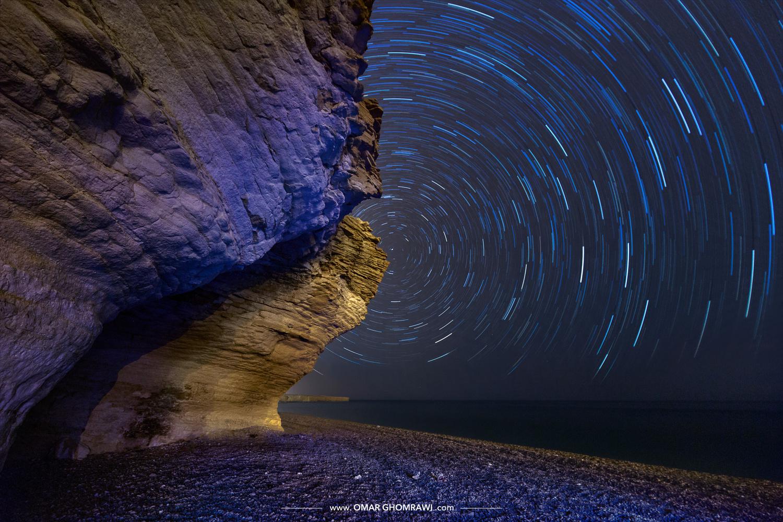 Startrails, Oman by Omar Ghomrawi