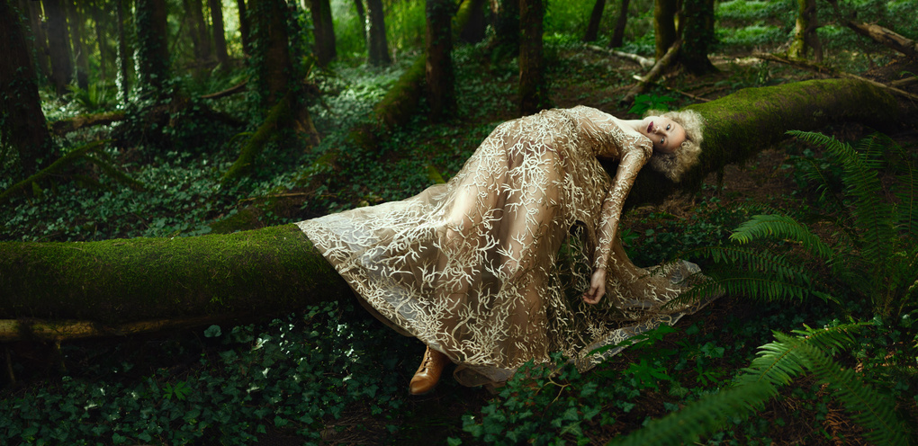 Girl in the Golden Dress by Kate Woodman