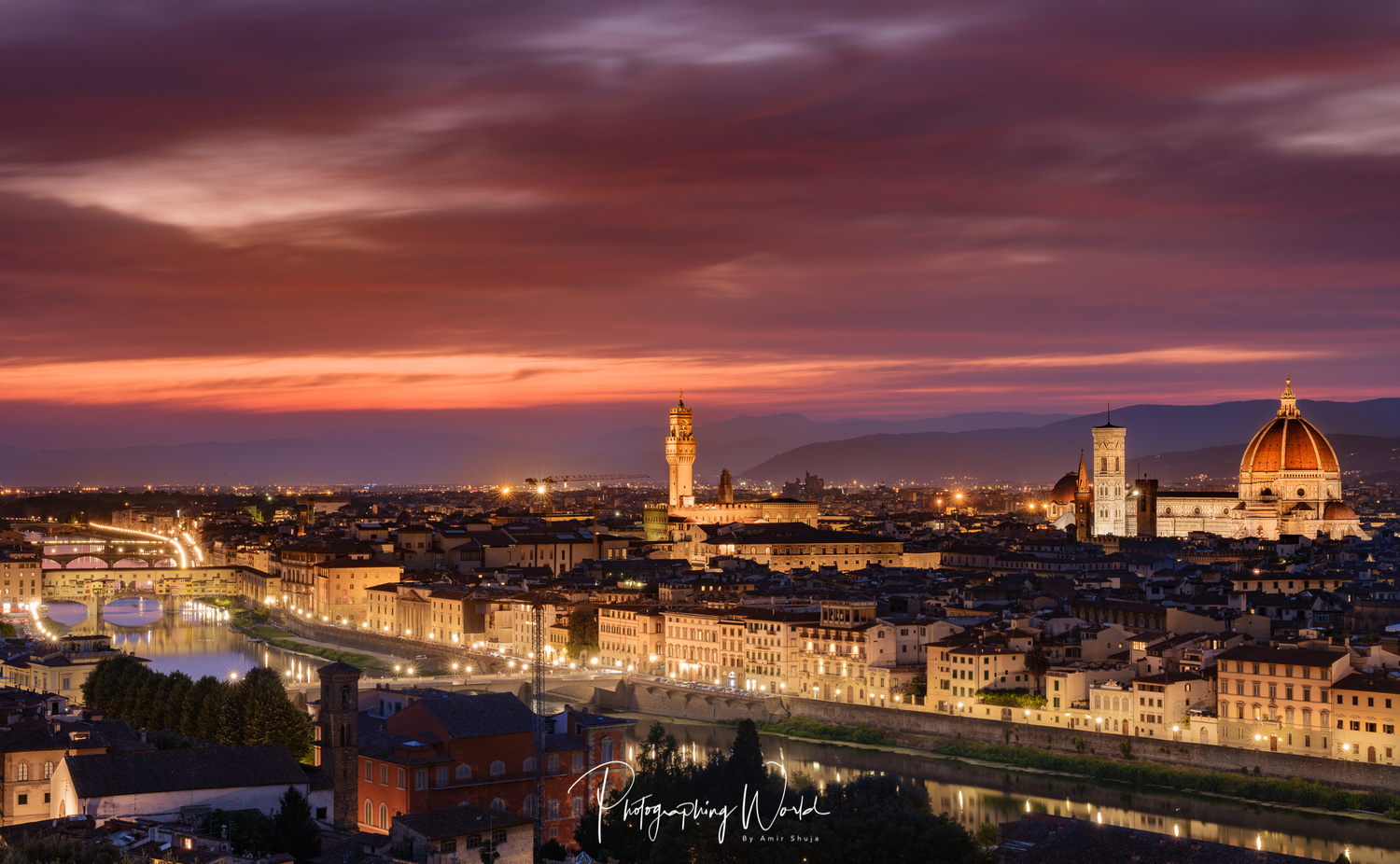 Florence Sunset, Italy by Amir Shuja
