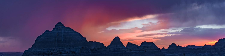 Badlands Sunset by Robert Barr