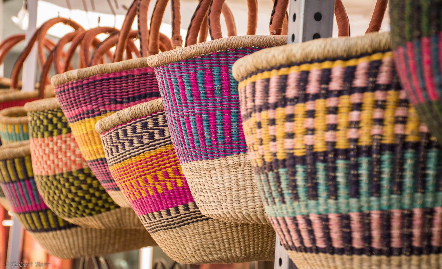 Woven Bags at the  Market by Robert Barr