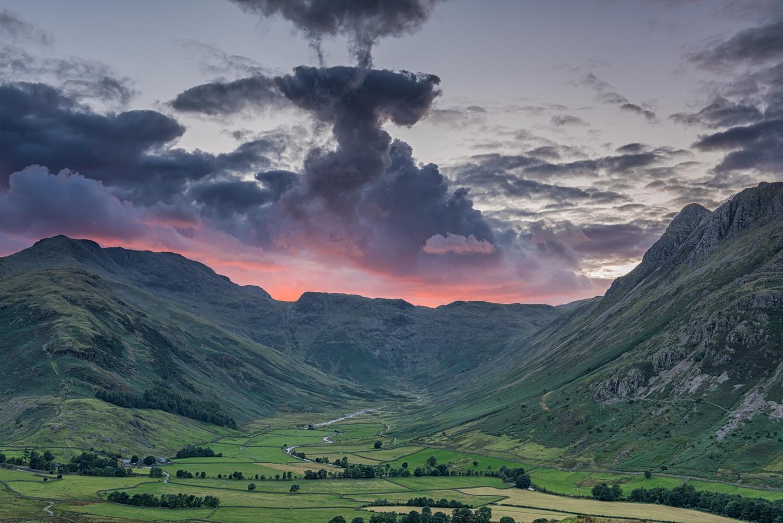 Mickleden Valley Sunset by MARTIN BROWN