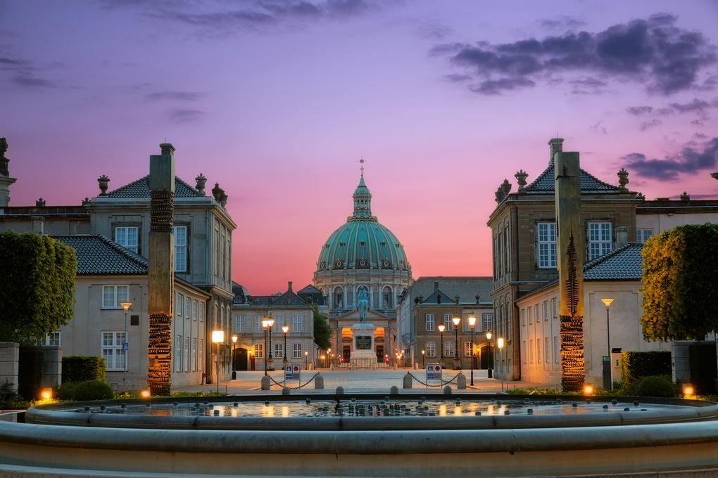 Spectacular Sunset of Amalienborg Palace by Mardie Else