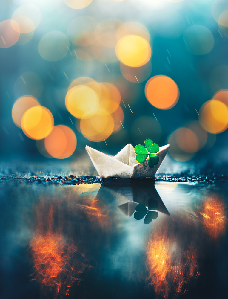 Little boat floated along by Ashraful Arefin