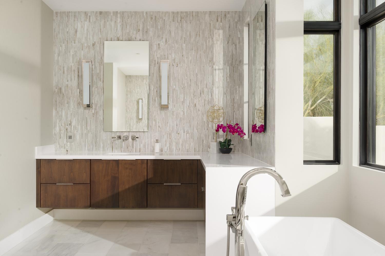 Moody Modern Bath by Eric Kruk