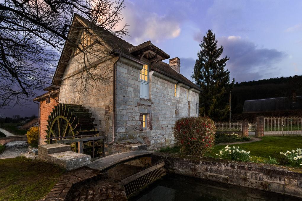 Water Mill by Jean Lubtchansky