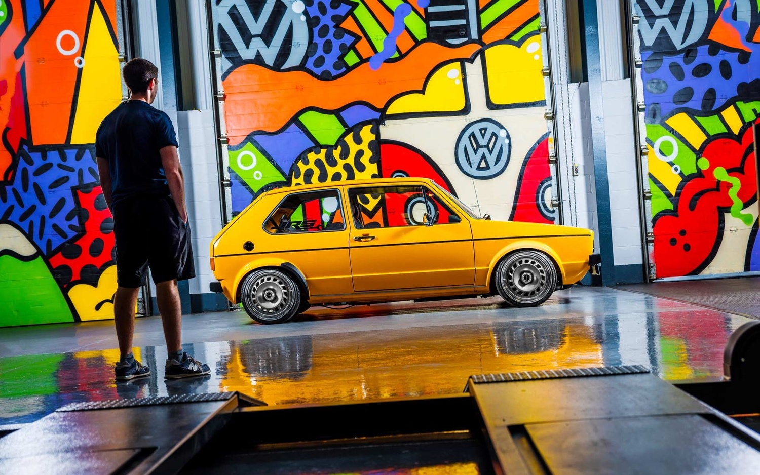 Colourful Volkswagen Golf by Lee Cant
