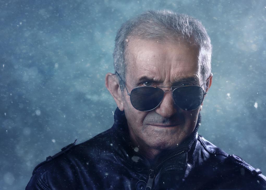 My grandpa. 75. Retired Army Colonel. by Dragos Ionescu