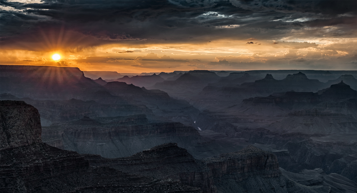 Sunset, Moran Point, Grand Canyon by John Dodson