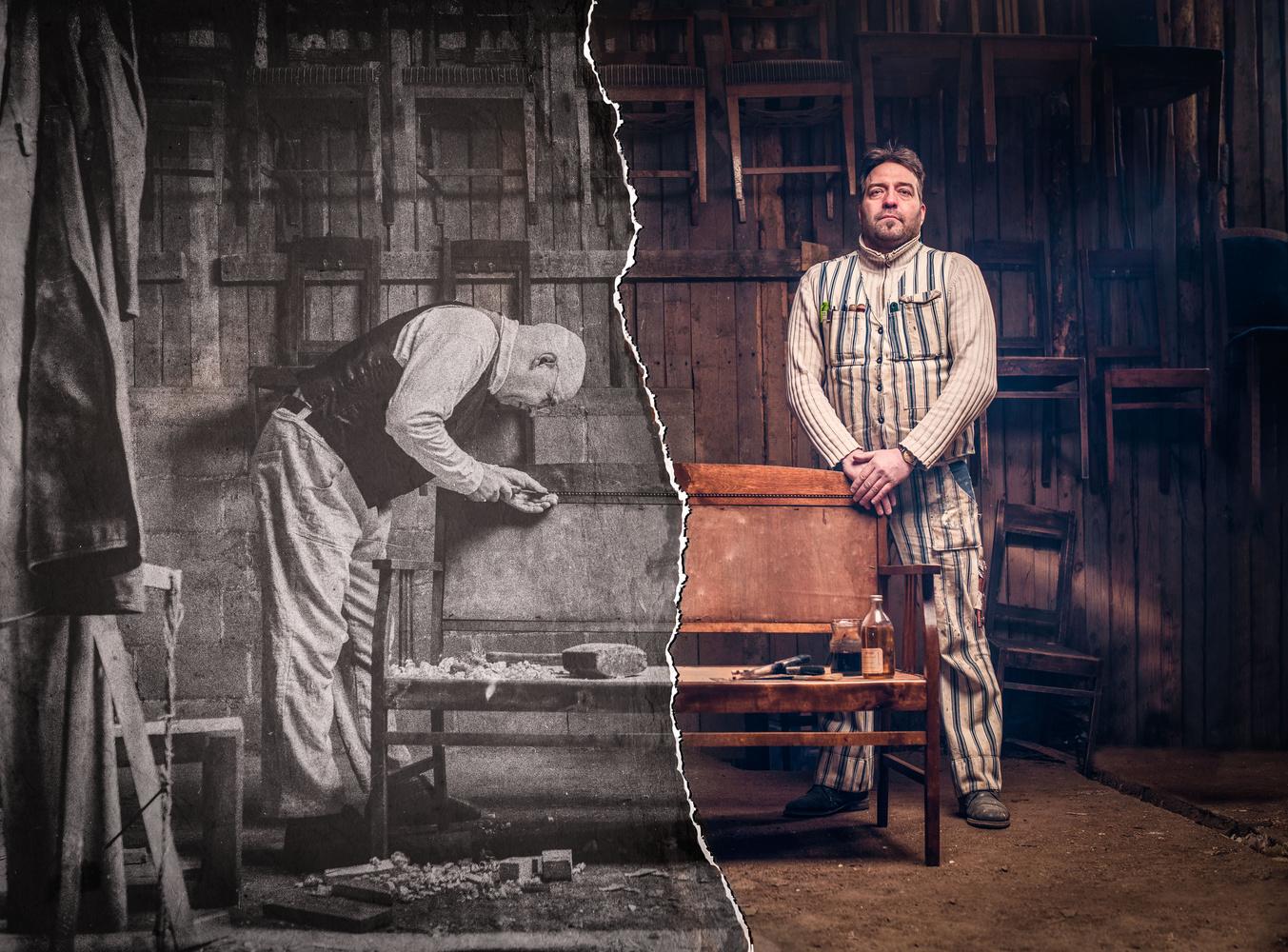 Advertising photo for restoration carpenter by Juhamatti Vahdersalo