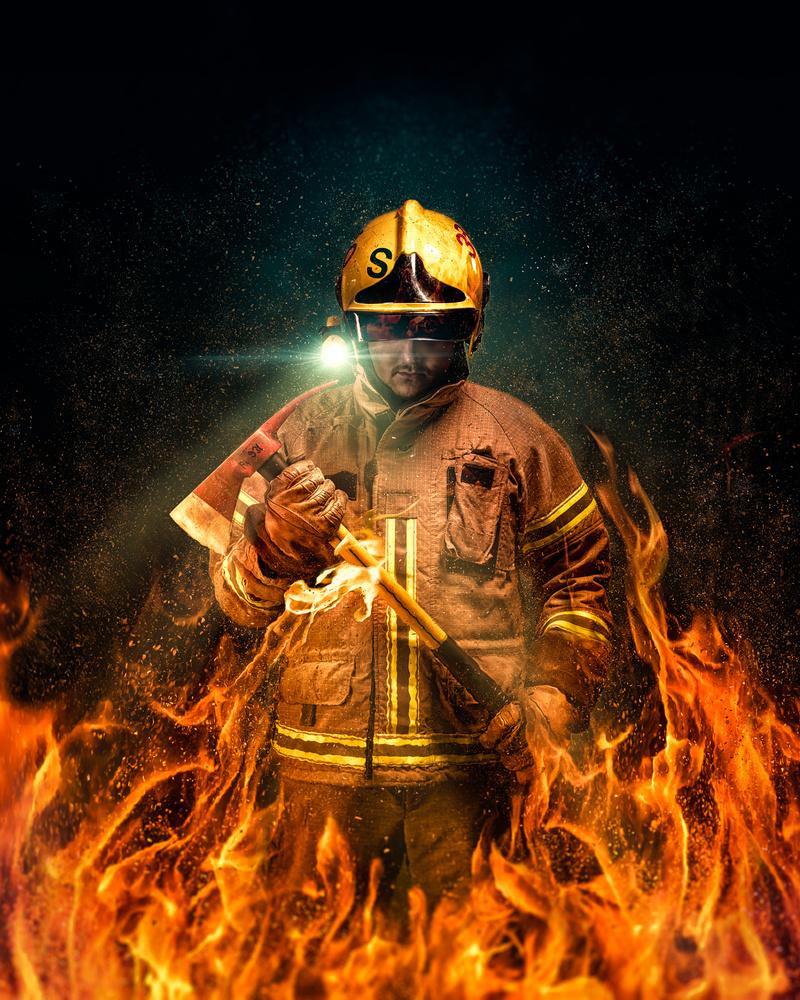 Fireman by Juhamatti Vahdersalo