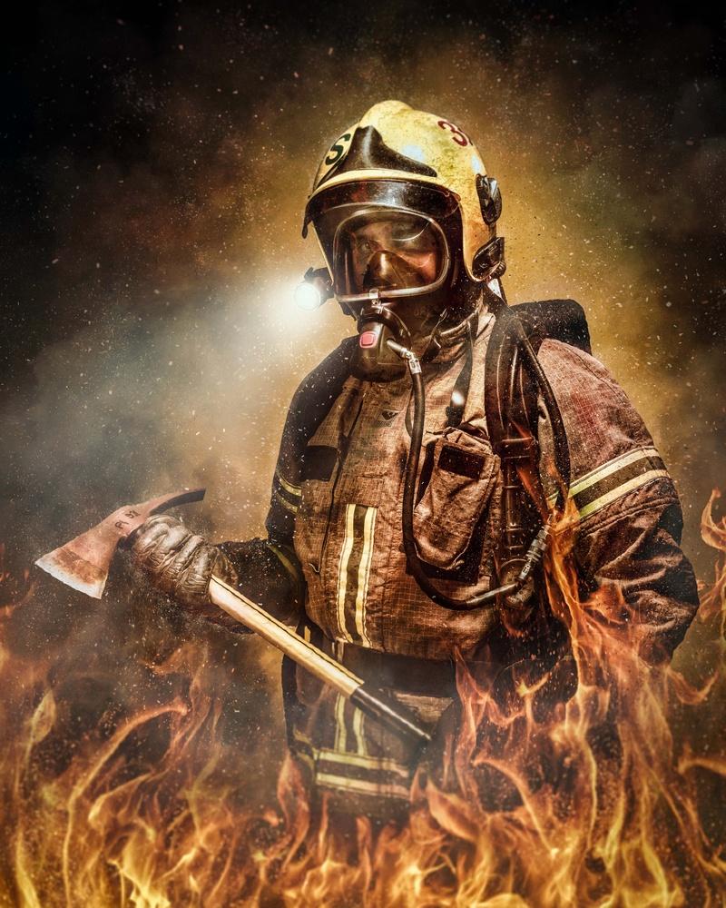 Firefighter by Juhamatti Vahdersalo