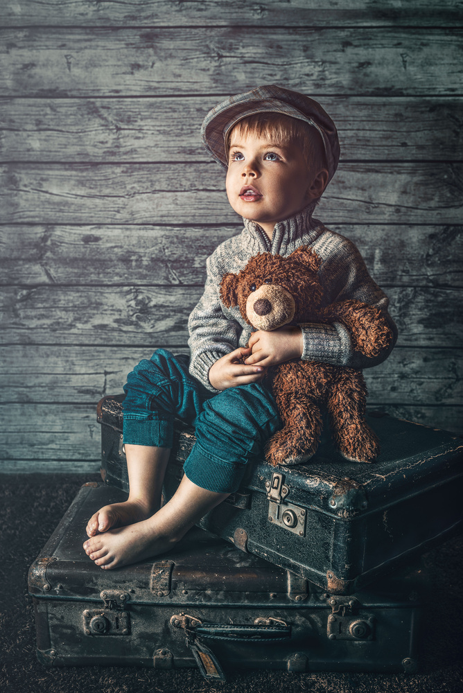 Little boy blue by Juhamatti Vahdersalo