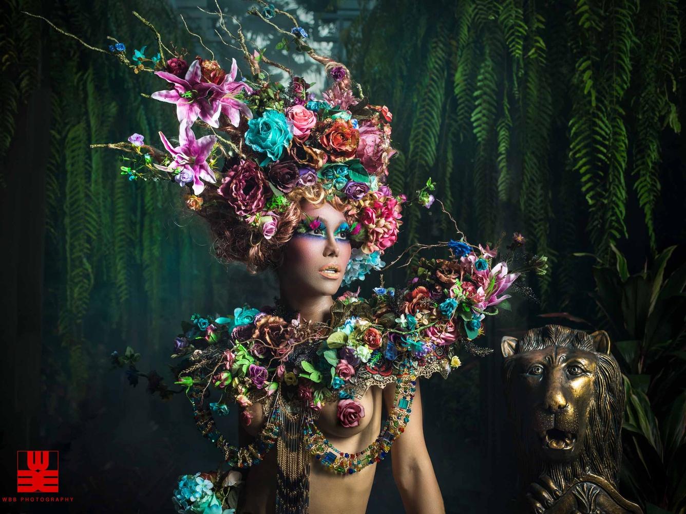 Les Dame Des Fleurs by William Barrington-Binns