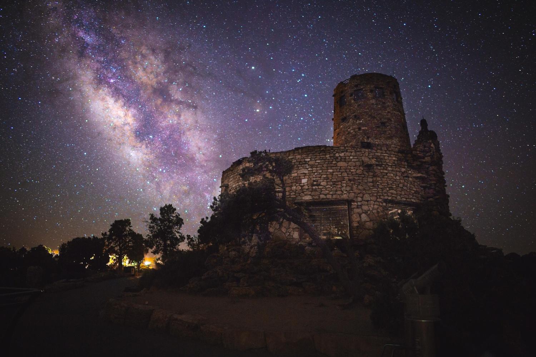 Desert View Watchtower at Night by Daniel Wise