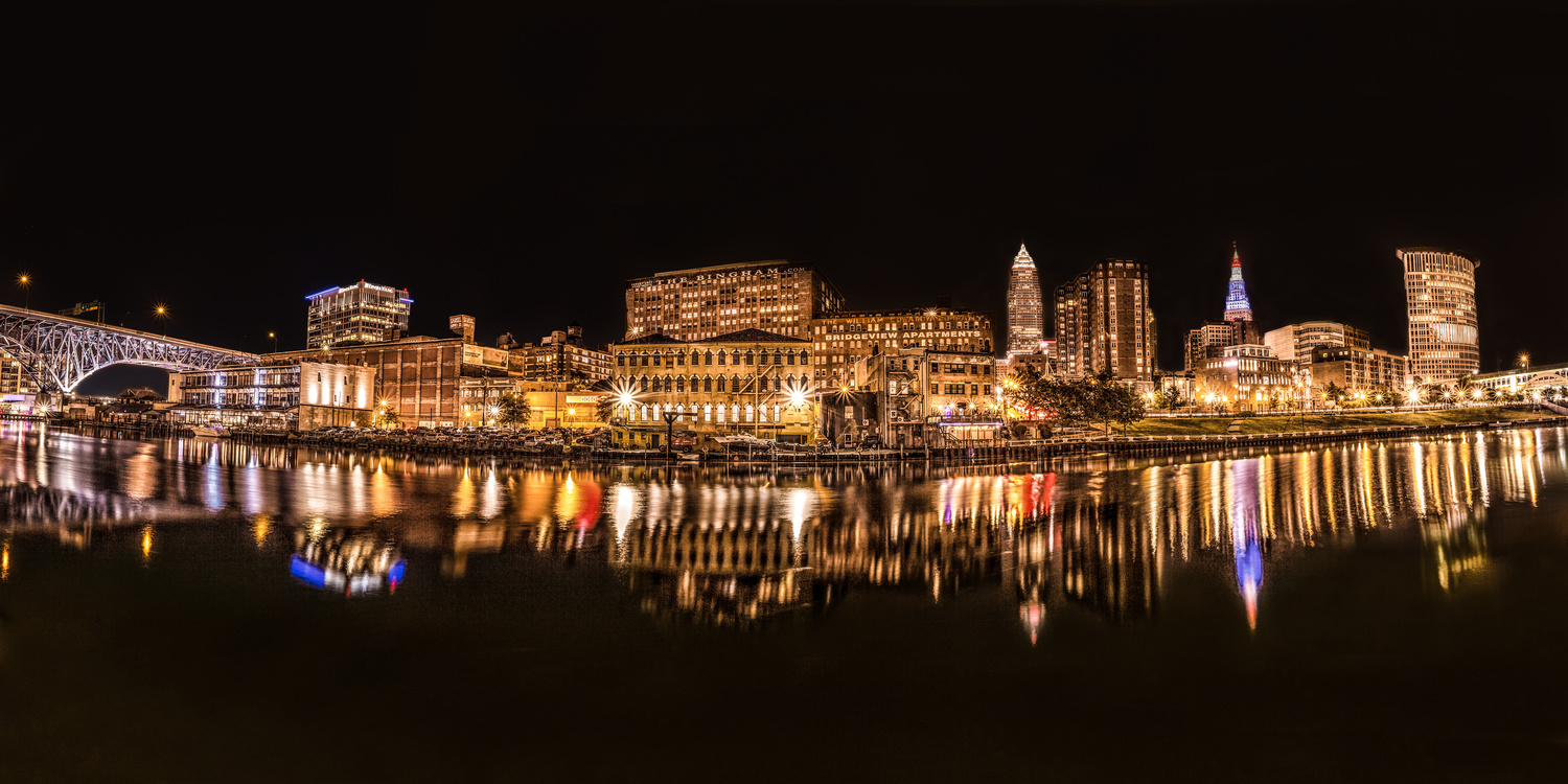 Cleveland at night by Daniel Wise