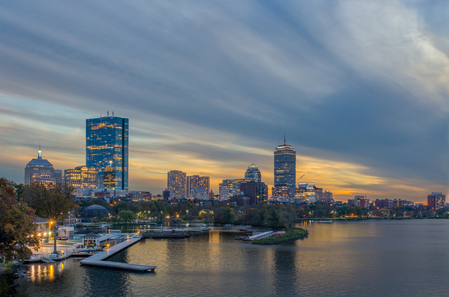 Back Bay Boston by mike ste. marie