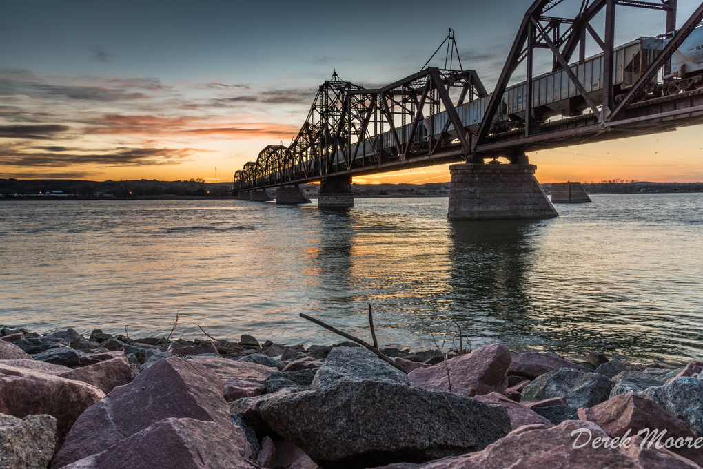 Sunset Railroad by Derek Moore