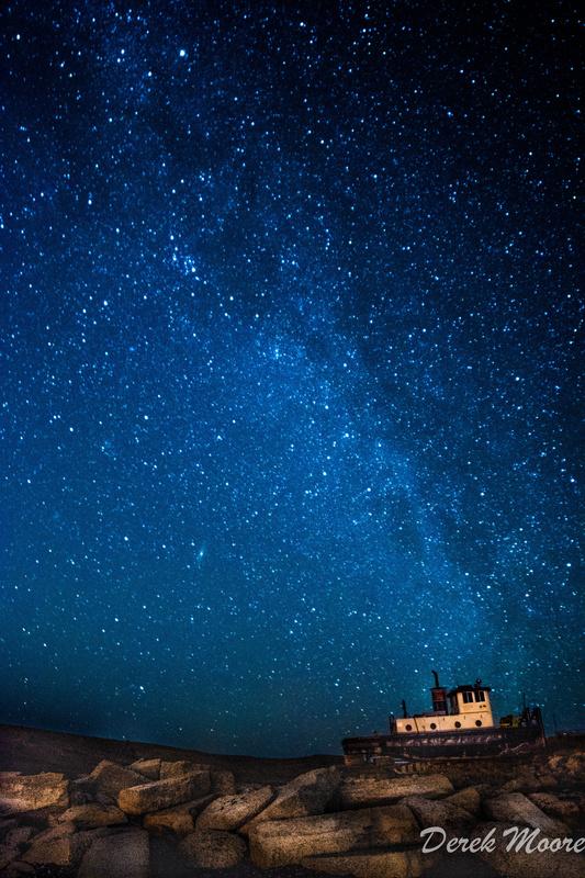 Beached Under the Stars by Derek Moore
