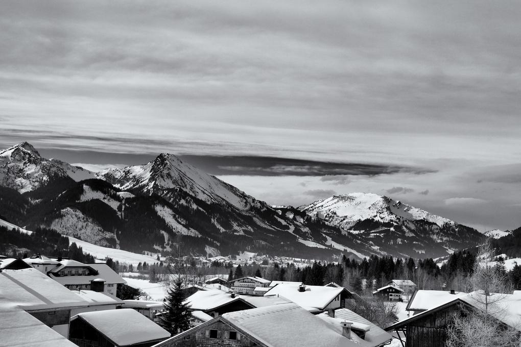 Village in the Austrian Alps by Dennis Burke
