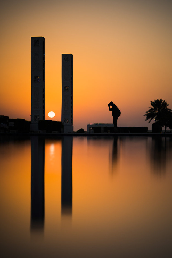 Sunset At The Grand Mosque by Austin Paz