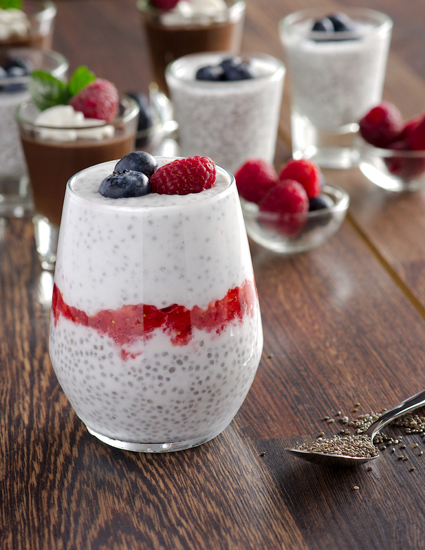 Chia pudding with strawberry sauce by Alaa Eladl