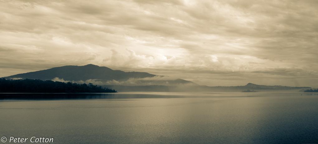 Cloudy Morn Wallaga Lake by Peter Cotton