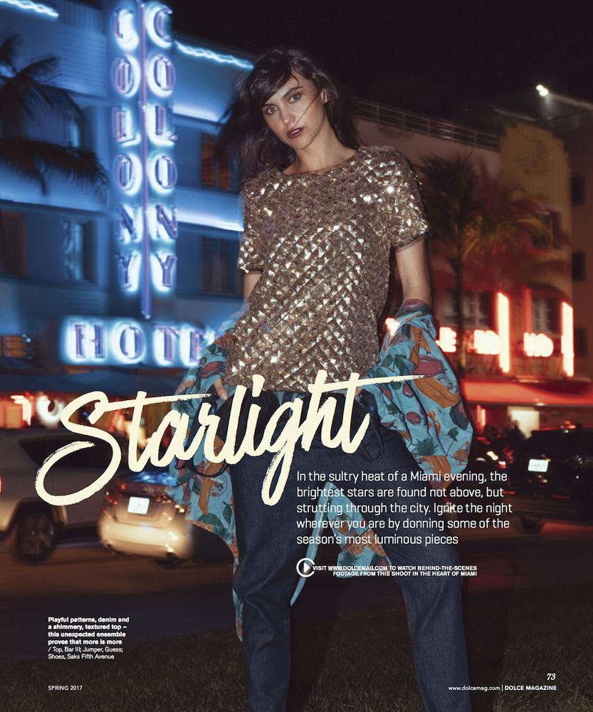 Dolce Magazine publication with Talita by Diego Nossa