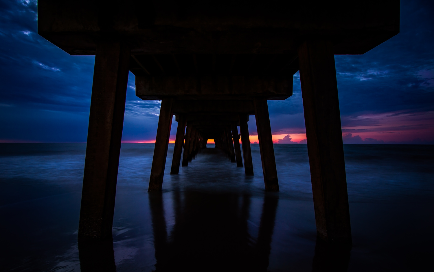 Under the Tybee Pier by Troy Marcy