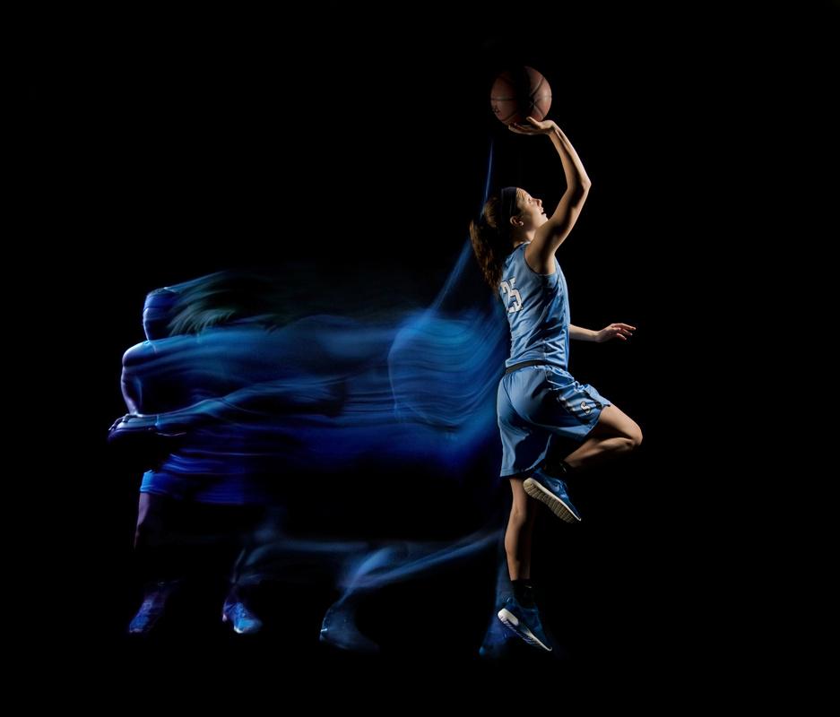 Basketball all-star light painted portrait 2 by Erik Gliedman