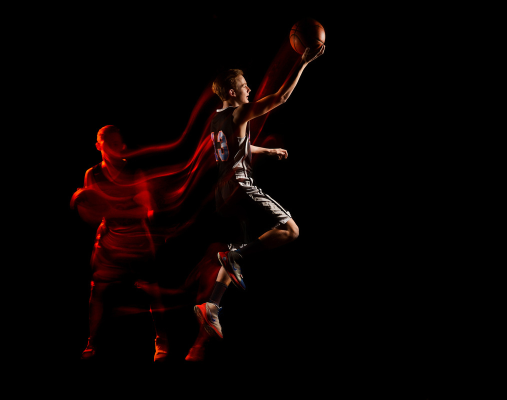 Basketball all-star light painted portrait 3  by Erik Gliedman