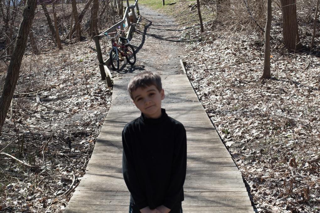Boy on the Path by Keith Garrant