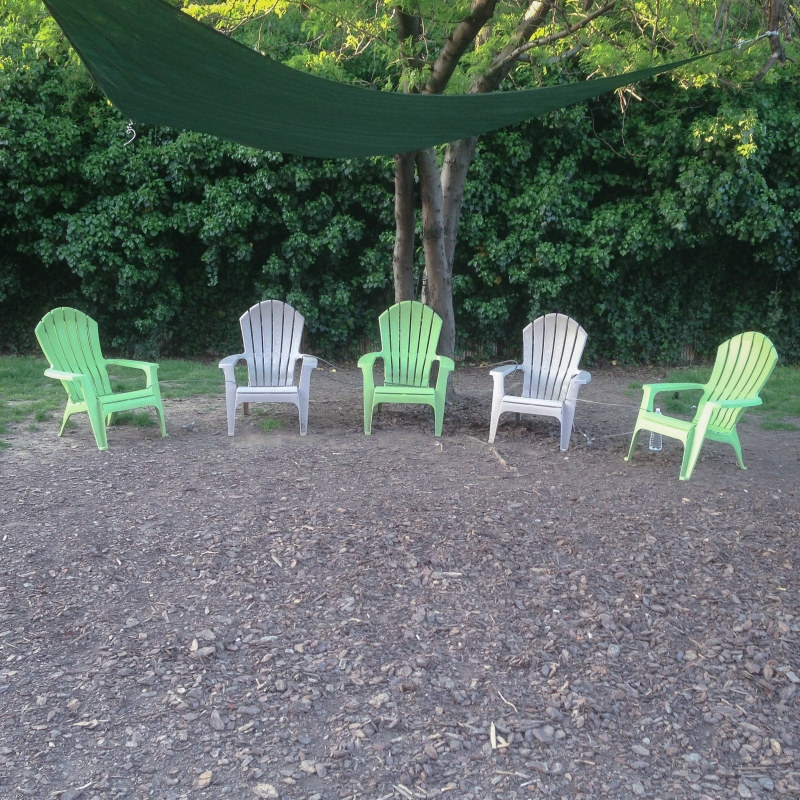 Green and White Chairs by Michael Klusek