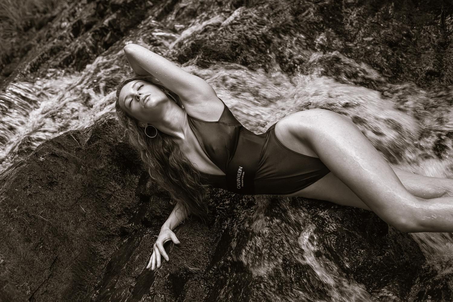 Julia in Calvin Klein Swim at Westfield Falls by Mark Johnson