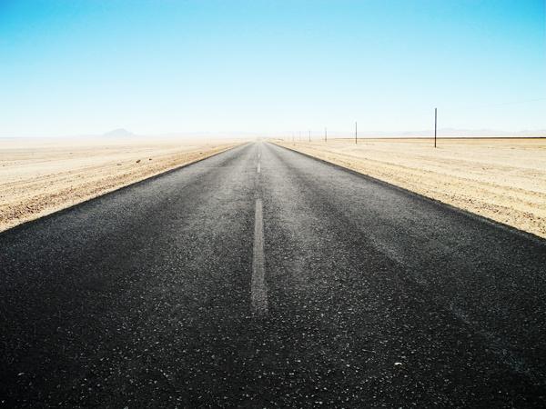 Namibian Desert Highway by Henry Biermann