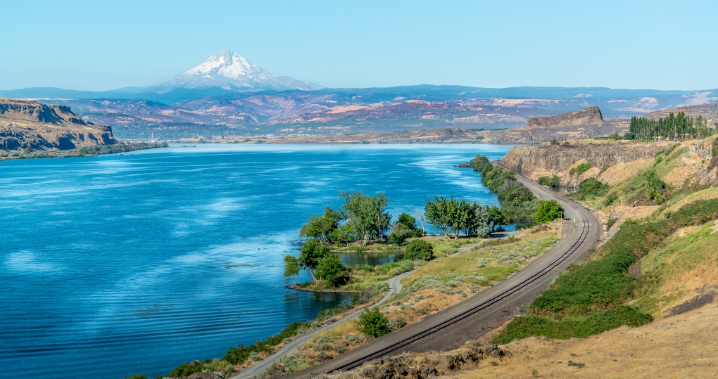 Columbia Gorge and Mt Hood by Me Not You