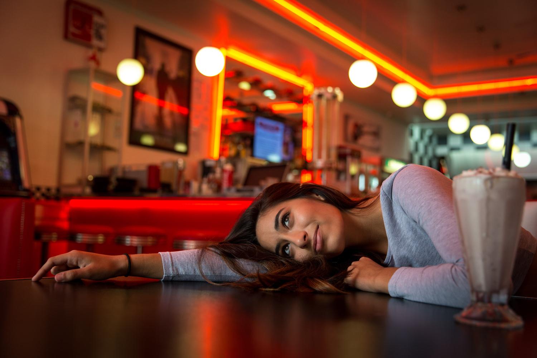 Hayley @ the diner by dwayne Senior