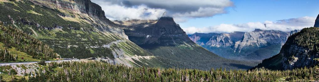 Glacier National Park Pano by Danielle Brooks