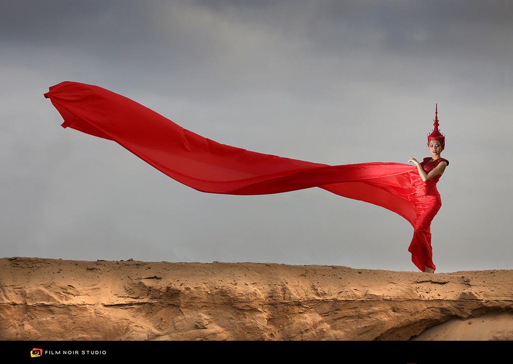 Red Apsara by Jeremie Montessuis