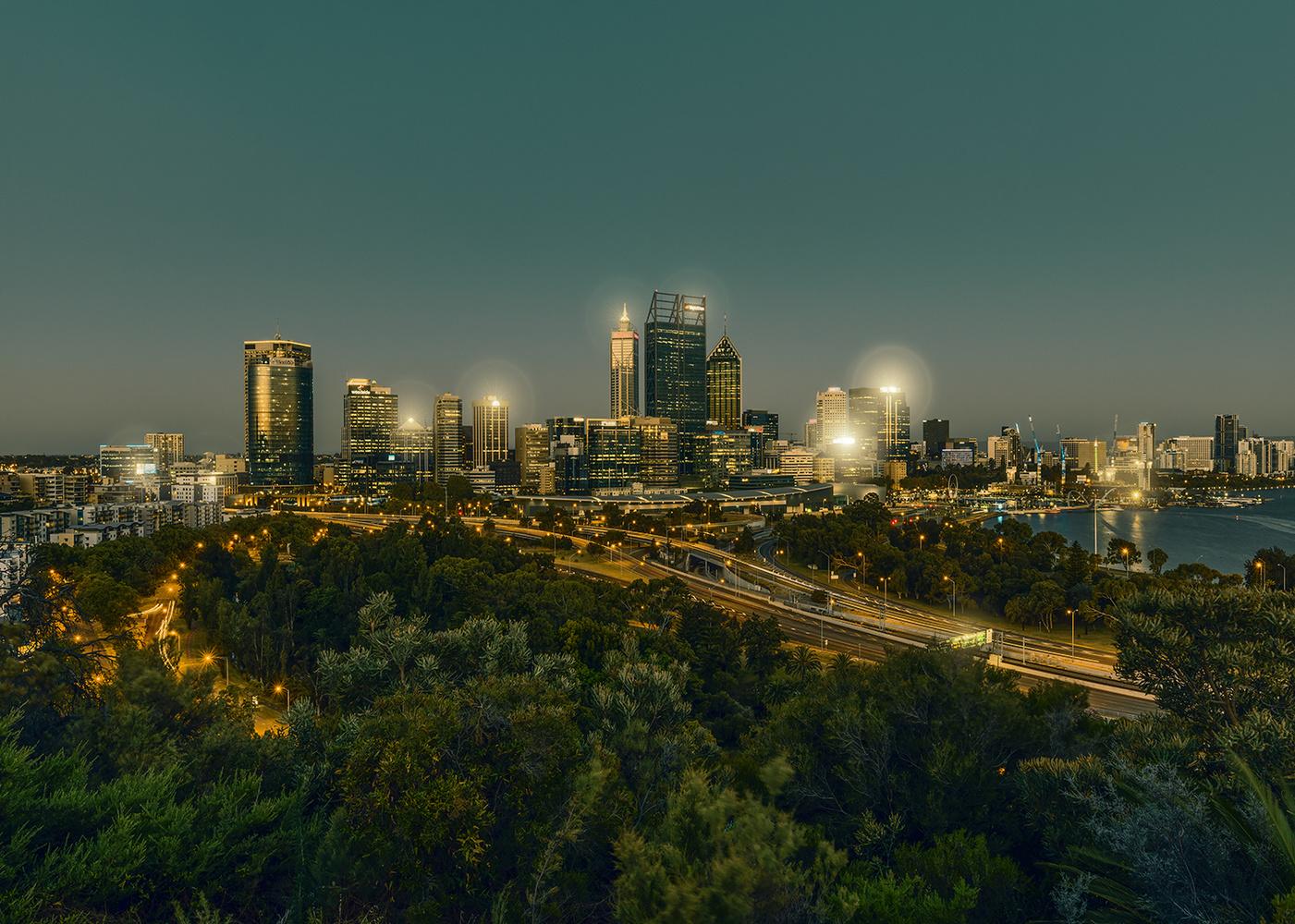 Perth @ night by Ulrich Roth