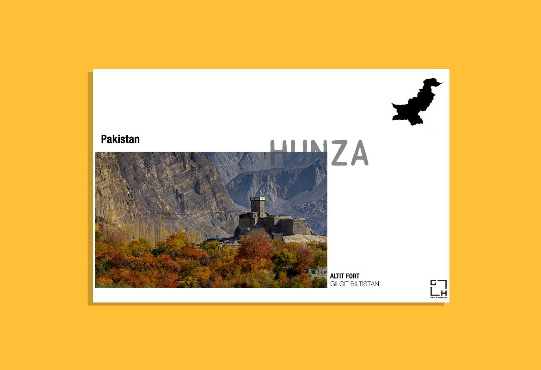 Hunza Post Card by Ghalib Hasnain