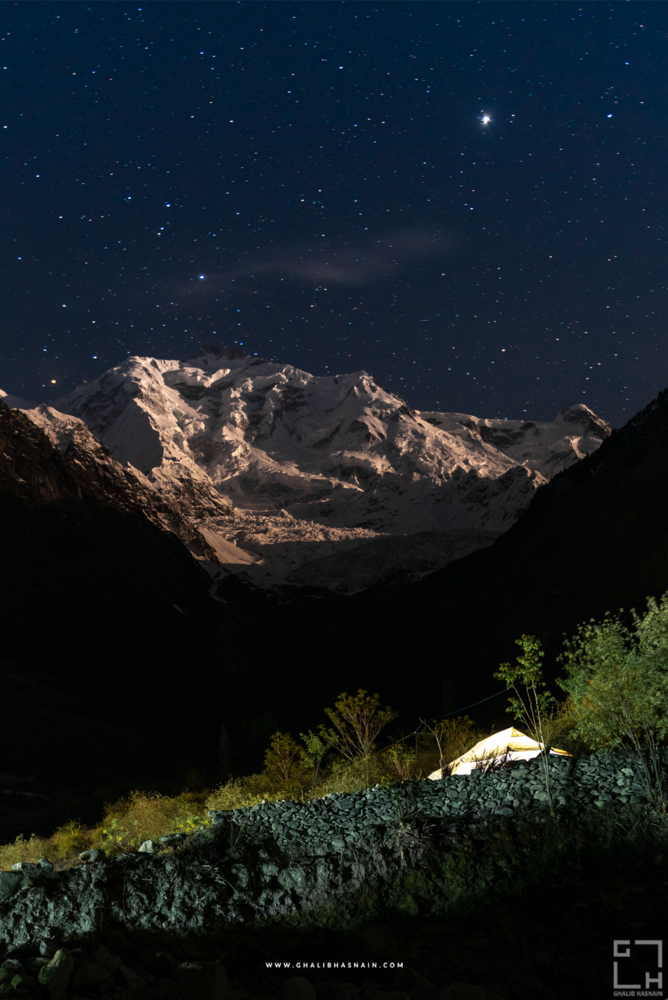 Night at Rakaposhi by Ghalib Hasnain