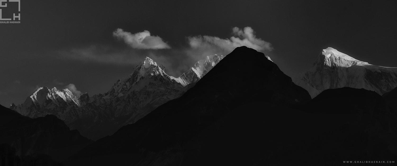 Black n White Mountains by Ghalib Hasnain