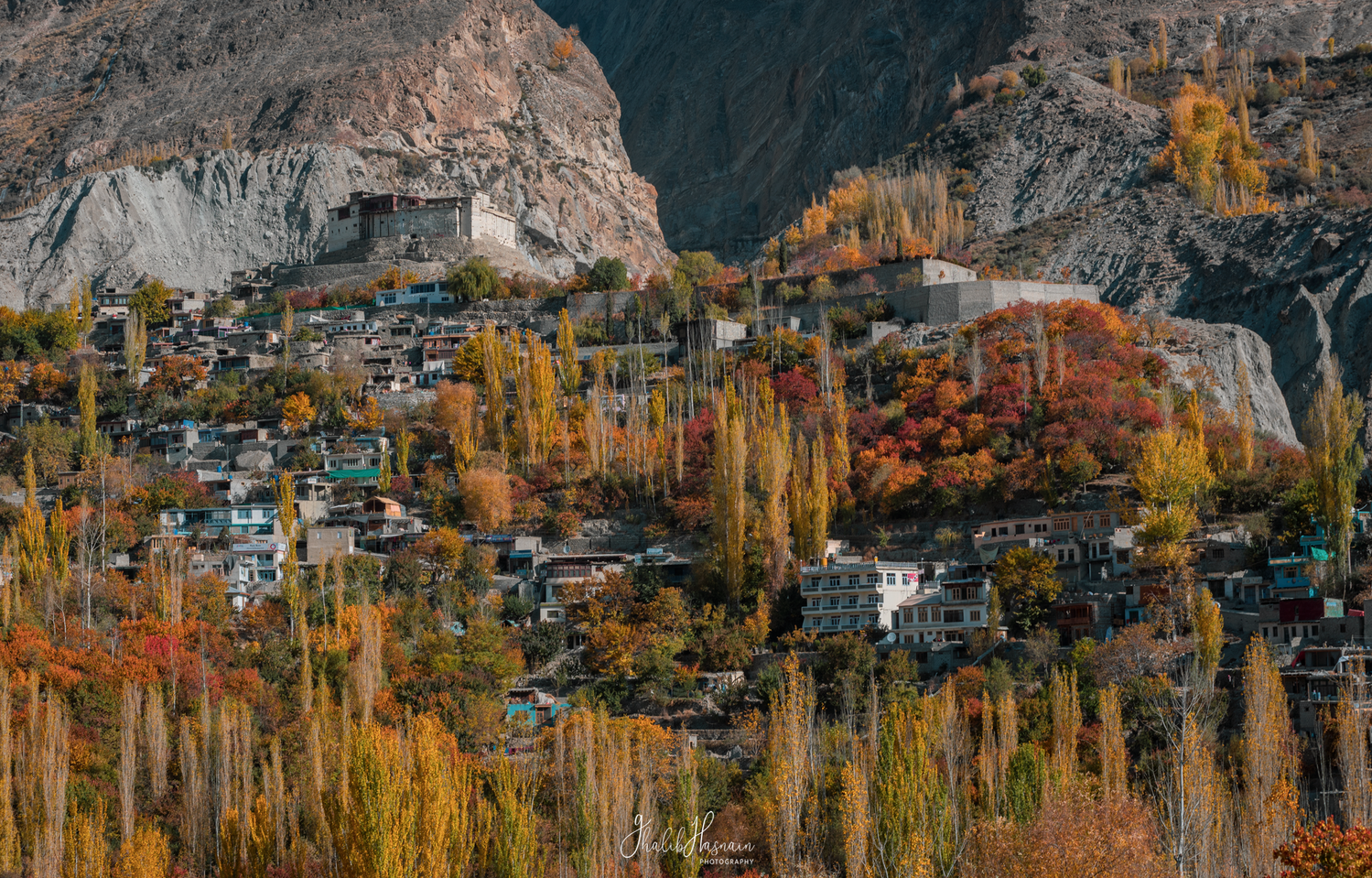 Baltit Fort and Autumn of Hunza by Ghalib Hasnain