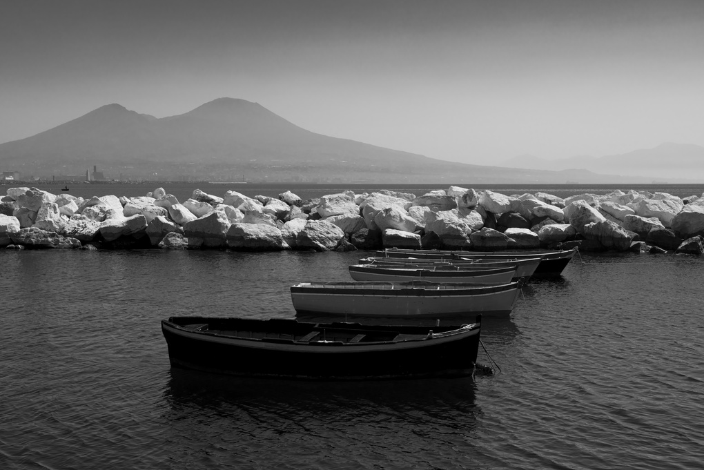 Mt. Vesuvius from Napoli, Italy by Kelby Sanders