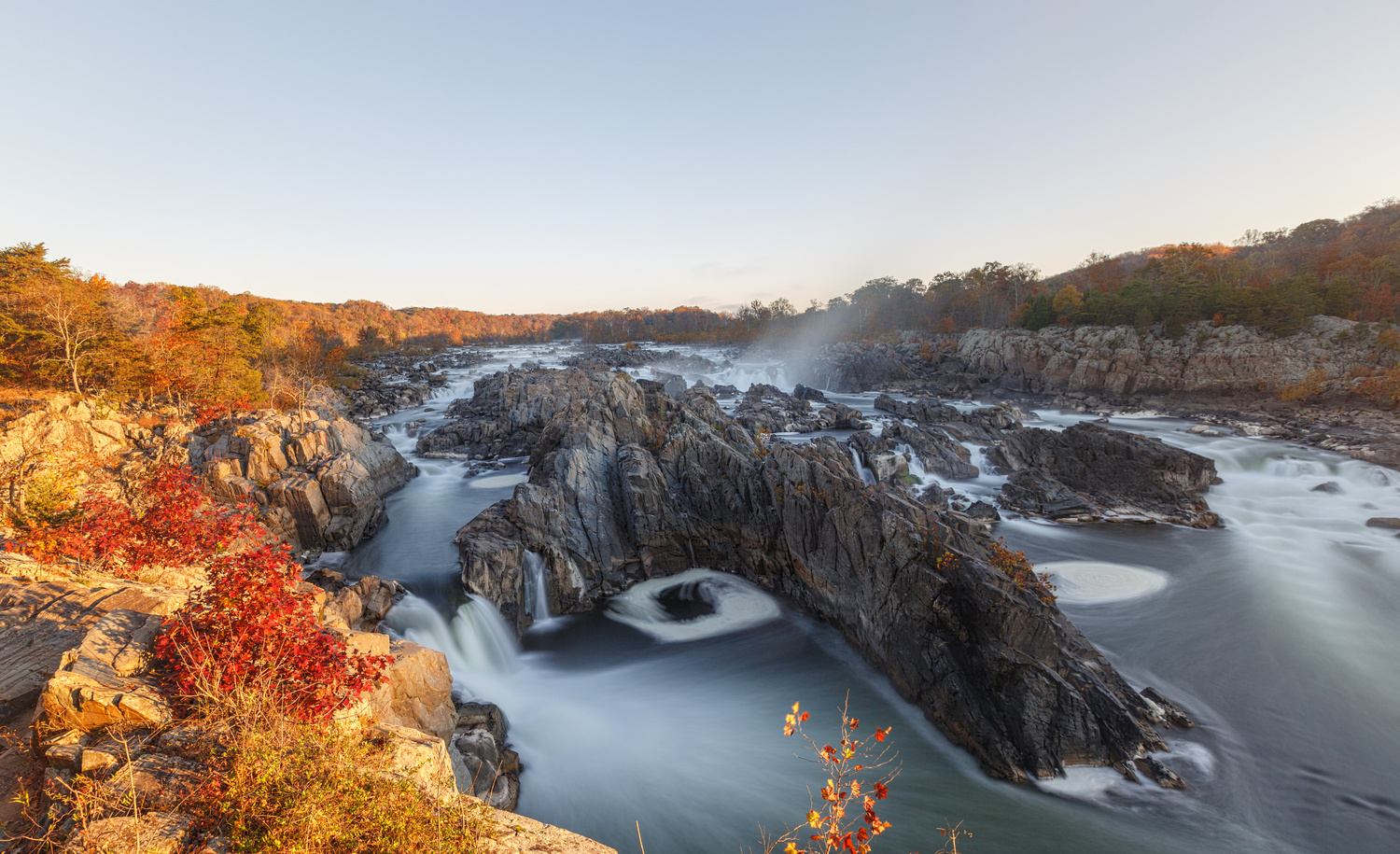 Great Falls Sunrise by Mark Alan Andre