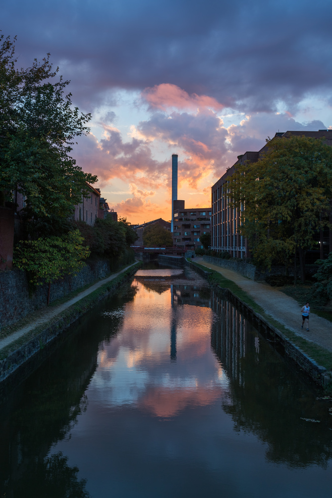 Canal Sunrise by Mark Alan Andre