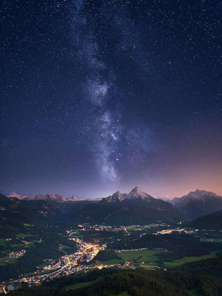 Alpine Milky Way by Jens Sieckmann