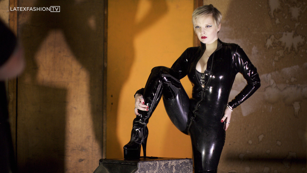 Acey for LatexFashionTV by Cole Black